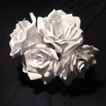 Stunning paper flowers, are perfect for a first anniversary.